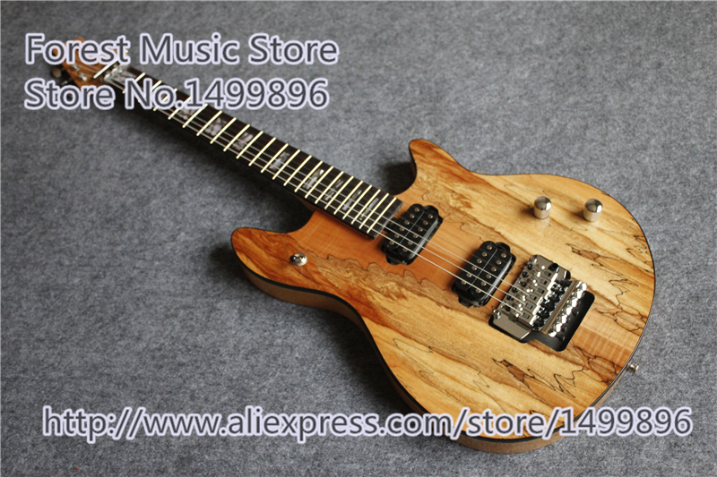 New Avirral Natural Wooden Grain EVH Wolfgang Edward Van Halen Electric Chinese Guitars Custom Left Handed Available chinese oem classical black beauty p 90 style pickup lp custom guitars electric left handed available