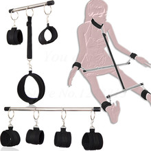 Metal Spreader Bar Bondage For Sexy Handcuffs Unisex Ankle Cuffs Restraint Bdsm Slave Cosplay Costumes Erotic Adult Sex Products