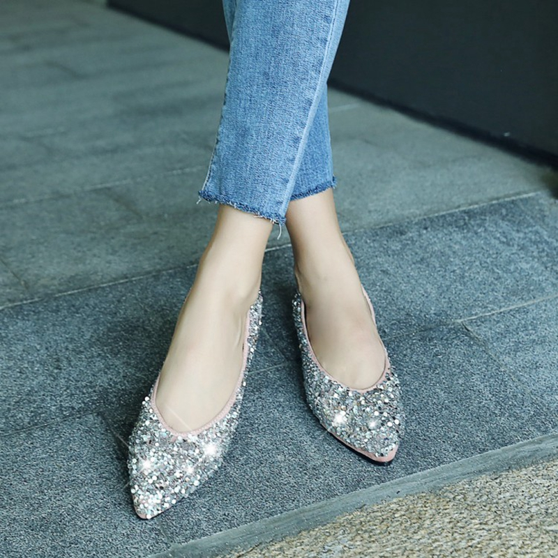 AVOVISHANA Bling Glitter women flats luxury sequined flats shoes women  ballerina flats autumn ladies flats Espadrilles A1298-in Women s Flats from Shoes  on ... 419001348942