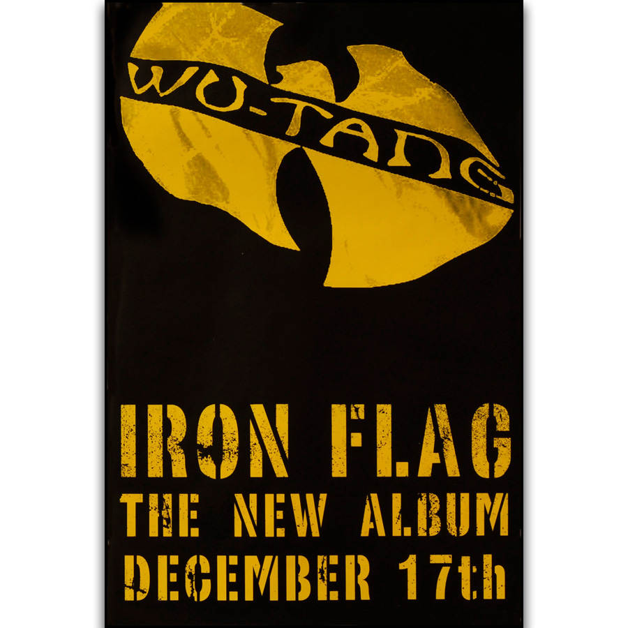 S2497 Album Cover Iron Flag Wu Tang Clan Rap Group Rapper Star Wall ...