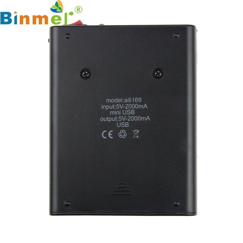 Binmer nueva mecall usb 5 v 2a 18650 banco de la energía del cargador de batería