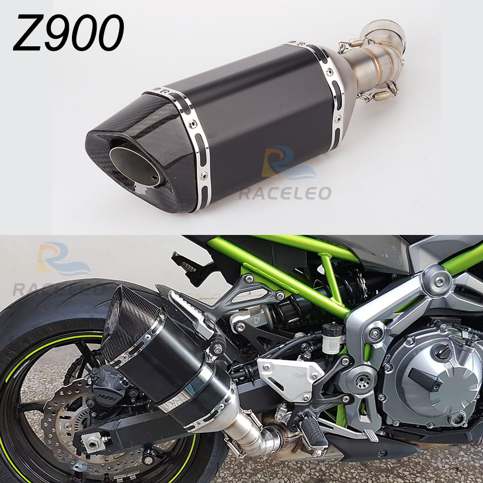 Z900 Motorcycle Exhaust muffler with middle Pipe z900 Modified muffler Tube slip on exhaust pipe For Z900 exhaust 2017-2018