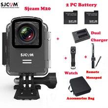 M20 SJCAM Wi-Fi Открытый Спорт Действий Камеры 30 М Водонепроницаемый Sj Cam Д. в. + Пульт Дистанционного Часы + Remote Монопод + 2 Батареи + Двойной Зарядное Устройство + Сумка