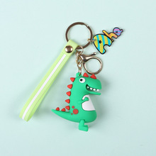 Fashion Cute Cartoon Little Dinosaur Keychain PVC Key chain For Women Bag Charm Ring Pendant Gifts Jewelry