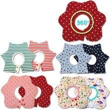 Модное платье с цветочным узором Стиль детские нагрудники для новорожденных младенцев бандана мягкий Круглый 360 градусов вращающийся для малышей 4 слоя нагрудник Слюнявчики для кормления шарф