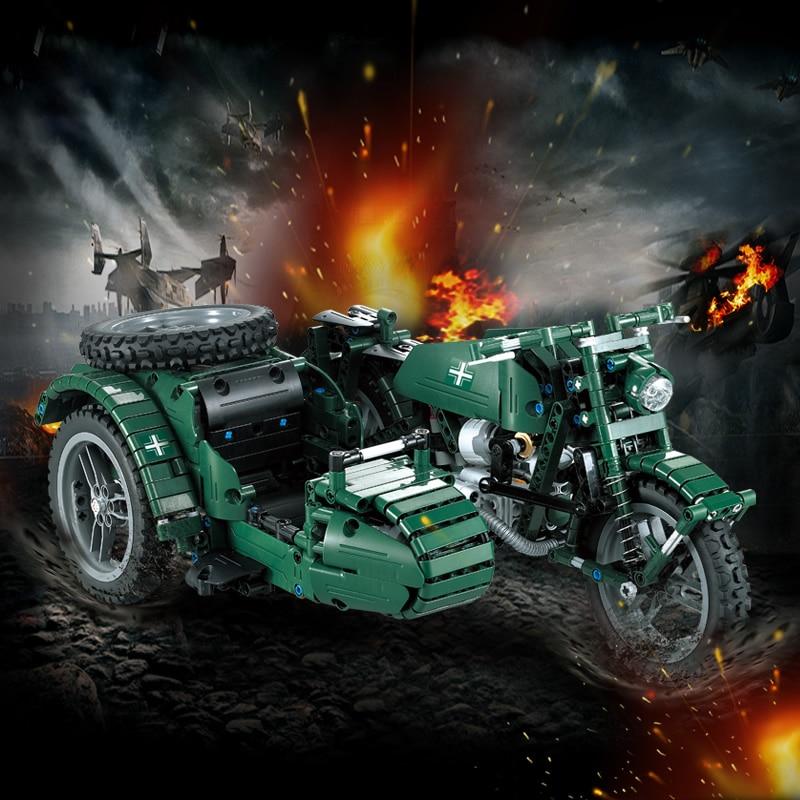 629 pièces WW2 série militaire RC moto Compatible avec la technologie des blocs de construction briques modèle armée soldats arme véhicules - 2