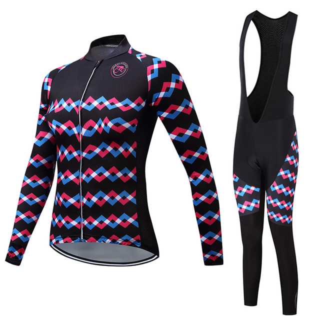 07fcdea66 Pro Winter cycling jersey women thermal fleece long sleeve Road bicycle  clothing MTB mountain bike clothes cycling wear skinsuit
