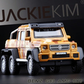 New Benz G63 AMG 6X6 SUV 1:32 toys car model Mercedes-Benz G-Class pull back sound light boy gift Monster Car  Camouflage