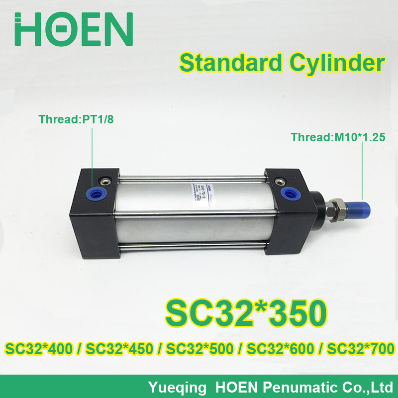 SC32*350 SC series 32 mm bore standard single rod air cylinders SC32X350 SC32*400 SC32*450 SC32*500 SC32*600 SC32*700 SC32*800 профиль arlight 021555