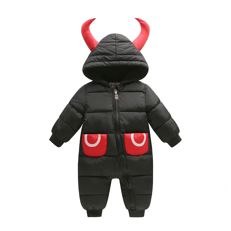 Fashion Baby Rompers Winter Baby Girl Clothes Down Parkas Baby Boy Clothing Newborn Baby Clothes Roupas Bebe Infant Jumpsuits