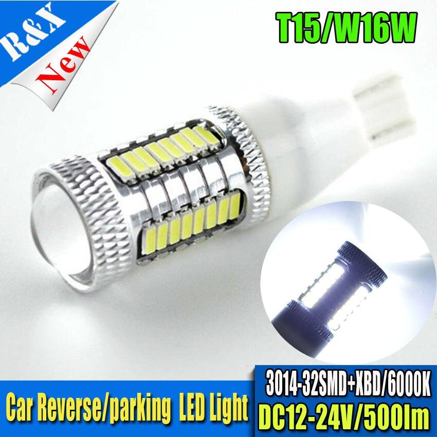 2x CHIP XBD 3014SMD T15 W16W LED Backup Light Car Reversing Light Bulb Backup Light Turn Signal Light Brake Fog Lamp