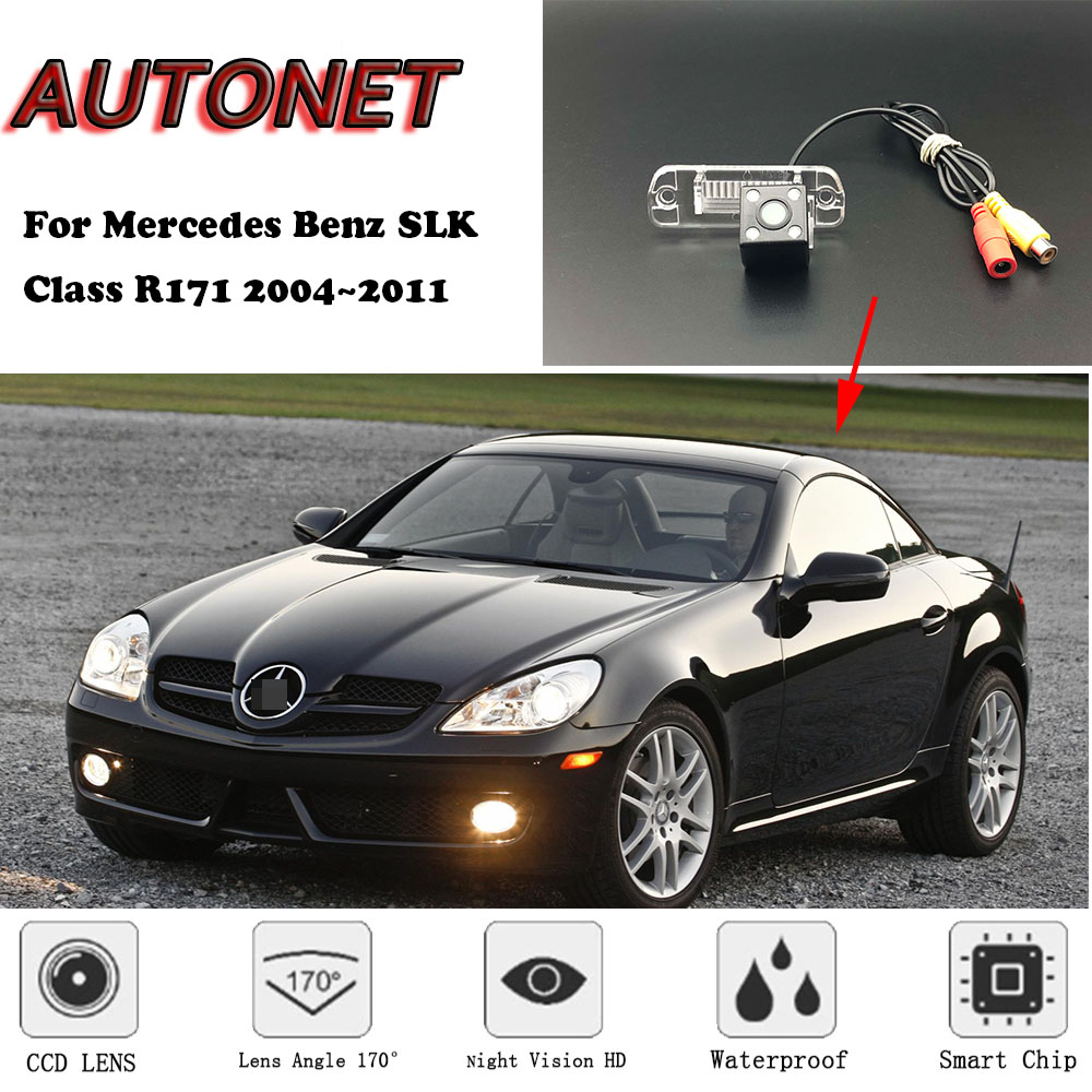 AUTONET Backup Rear View Camera For Mercedes Benz SLK Class R171 2004~2011 Night Vision Parking/license Plate Camera
