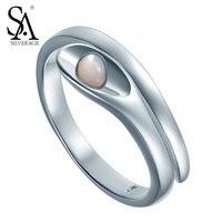 Silver Rings Adjustable Soild 925 Sterling Silver Anniversary Wedding Ring For Women Original Designer Jewelry Girl
