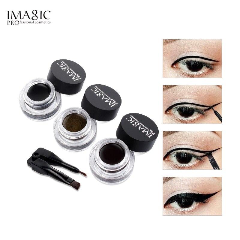 IMAGIC Eyeliner Waterproof Eyeliner Gel Makeup Cosmetic Gel Eye Liner With Brush 24 Hours Long lasting Eye Liner Kit in Eyeliner from Beauty Health