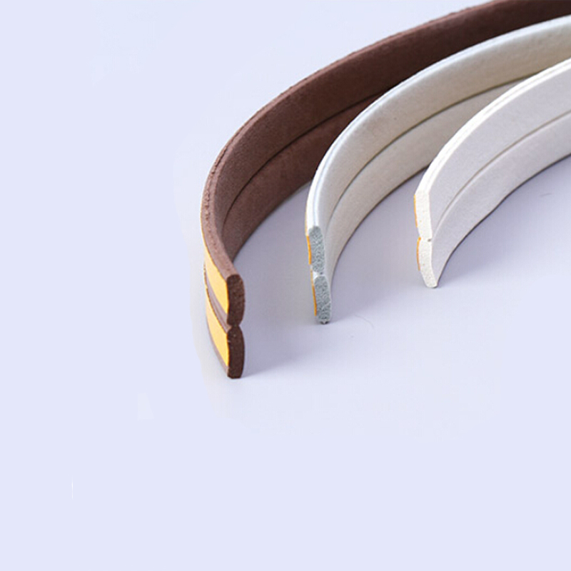 5m I type wooden door window self adheisve rubber foam sealing strip weatherstrip