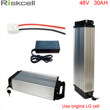 Ebike lithium-batterie 48 v 30AH elektrische fahrrad gepäckträger batterie 48 v 1000 Watt bike lithium-batterie mit Verwenden LG 18650 zelle