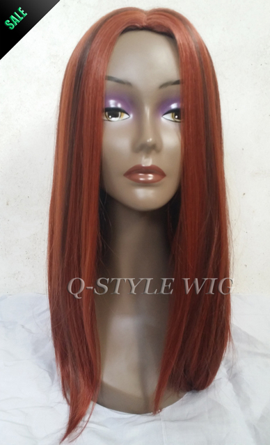 Straight Medium Length Dark Wine Red Color Cosplay Thick Hair Wig, Sexy  Mature Burgundy High