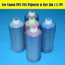 5 Liter/Lot PFI-703 Cartridge Refill Ink Kit For Canon iPF810 iPF815 iPF820 iPF825 810 815 820 825 Printer Pigment/Dye Ink 12 pieces lot large format ink cartridge for canon pfi 701 pfi 702 for canon ipf8100 ipf9100 ipf8110 ipf9110 printer