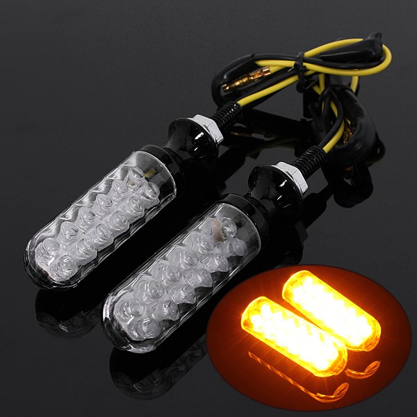 12V Universal Motorcycle LED Turn Signals Indicators Amber Light For Honda For Yamaha For Suzuki  For Harley