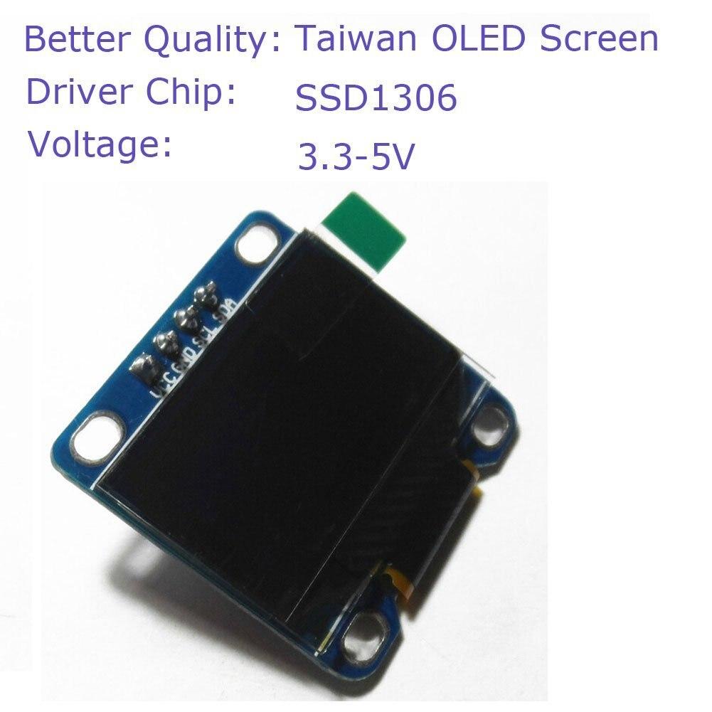 0.96 Inch Yellow Blue I2c IIC Serial Oled LCD LED Module 12864 128X64 for Arduino Display Raspberry PI 51 Msp420 Stim32 SCR