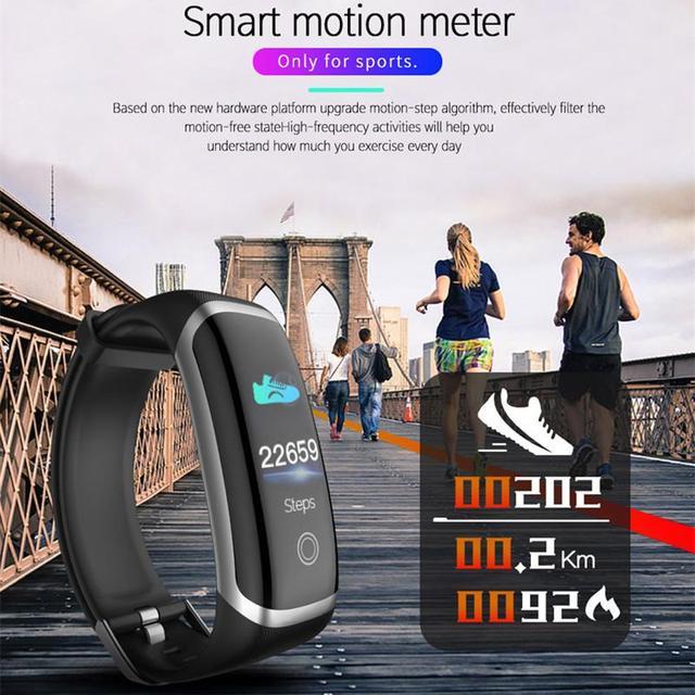 Longet Smart Watch M4 Heart Rate Monitor Waterproof Fitness Watch Blood Pressure Bluetooth Smart Bracelet for iPhone Xiaomi