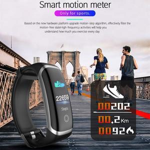 Image 2 - Longet relógio inteligente m4/t6 monitor de freqüência cardíaca monitor sono relógio de fitness pressão arterial bluetooth pulseira inteligente das mulheres dos homens esporte