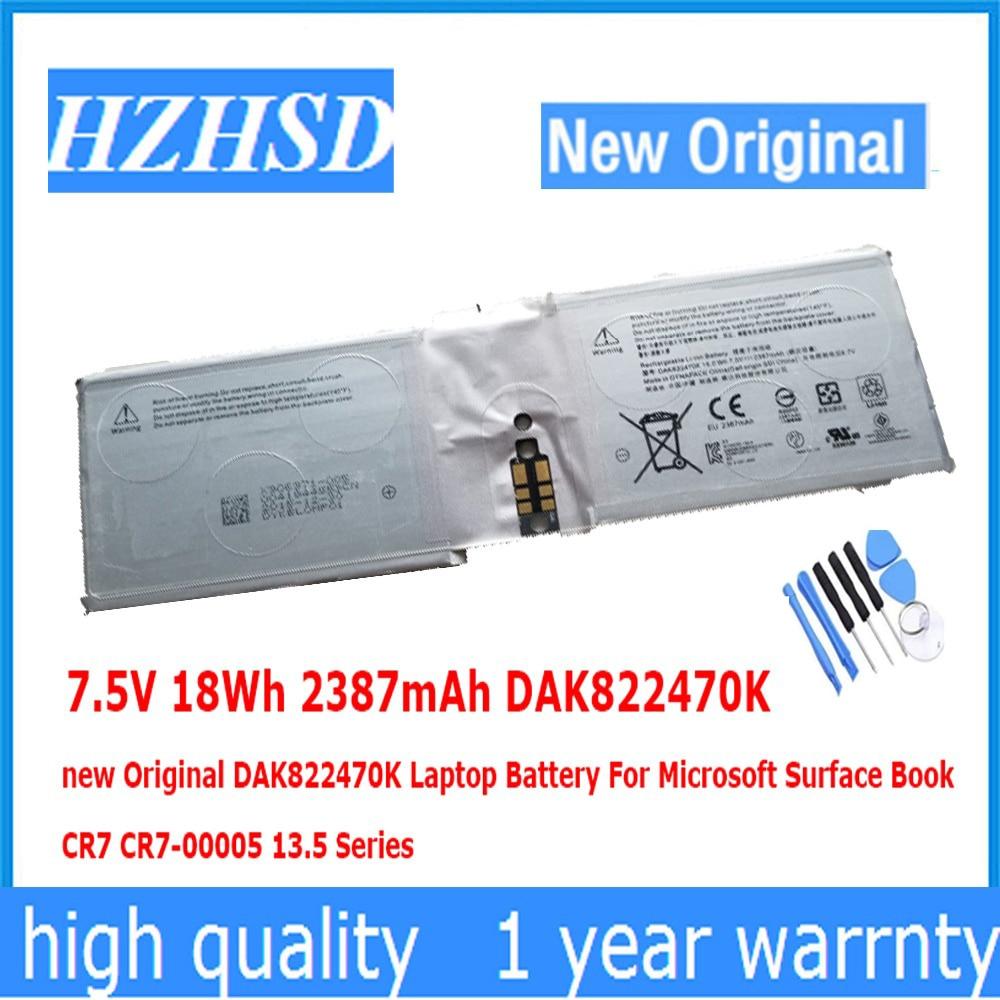 Bright 7.5v 18wh 2387mah Dak822470k New Original Dak822470k Laptop Battery For Microsoft Surface Book Cr7 Cr7-00005 13.5 Relieving Heat And Sunstroke