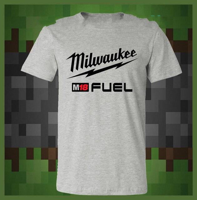 bbba13aee777 Milwaukee M18 Fuel Power Tool Construction T-SHIRT Cotton T-Shirt Fashion T  Shirt Free Shipping Men'S T-Shirt Fashion