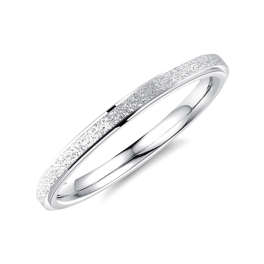 FATE LOVE Brand Fashion Jewelry 2mm Frosted Stainless Steel s