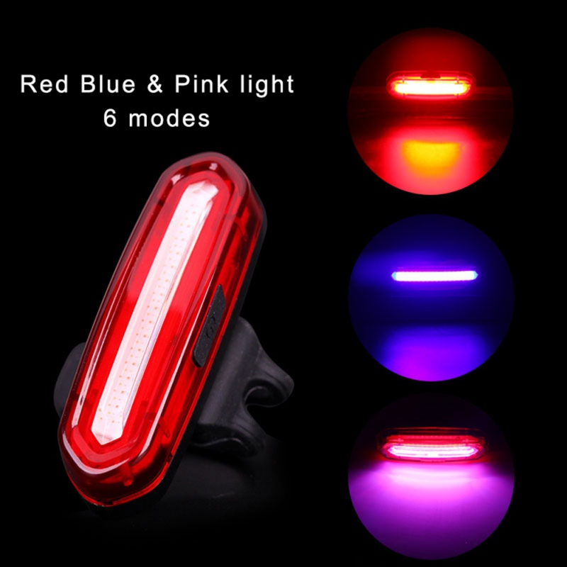 6 Modes Super Bright Bike Tail Light LED Bycicle Safety Rear Warning Light Lamp