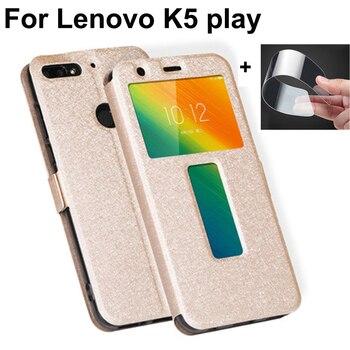 Otwarte okno capas dla Lenovo K5play skrzynki pokrywa luksusowe PU skórzana klapka dla Lenovo K5 grać powłoki dla Lenovo L38011 coque