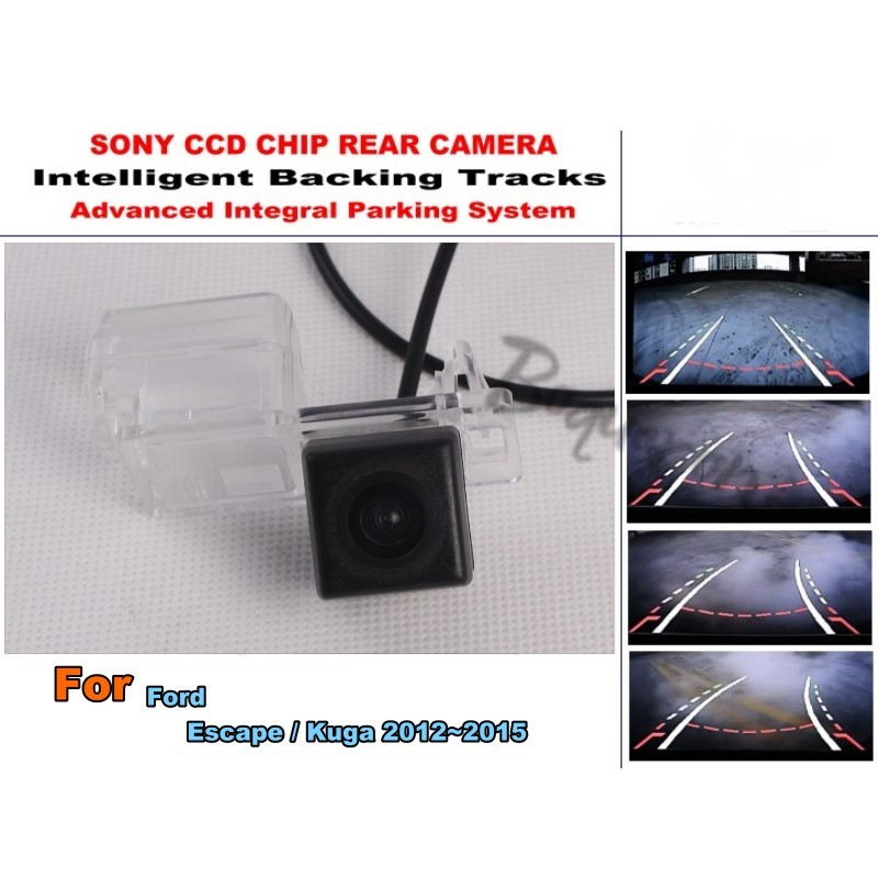 For Ford Escape / Kuga 2013~2018 Car Intelligent Parking Tracks Camera / HD Back up Reverse Camera / Rear View Camera lyudmila car intelligent parking tracks camera for mazda 6 mazda6 m6 sedan 2013 2017 hd car back up reverse rear view camera