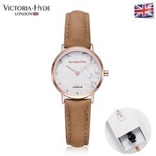 Victoria Hyde Minimalist Women Marble Watches Genuine Leather Strap Brand Watch Ladies Wristwatch Water Resistant Clock Gift BOX