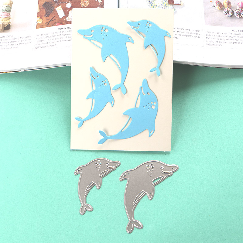 Arts,crafts & Sewing Duofen Metal Cutting Dies 050012 Dolphin Stencil For Diy Papercraft Projects Scrapbook Paper Album Geeting Cards To Ensure A Like-New Appearance Indefinably