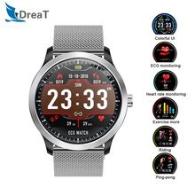 N58 Smart Watch Men IP67 Waterproof Sport Heart Rate Monitor Blood Pressure Smartwatch ECG PPG with Electrocardiograph Display
