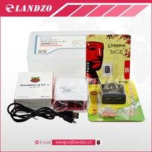 F Framboise pi 3*1 + 16G carte SD * 1 + D'origine shell * 1 + UE plug power * 1 + dissipateur de chaleur * 3 + cas pour raspberry pi 3 kit * 1 livraison gratuite