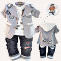 Special offer Three-piece suit hot children's clothing small set cotton coat+T-shirt+pants set baby boy/kid three piece sets