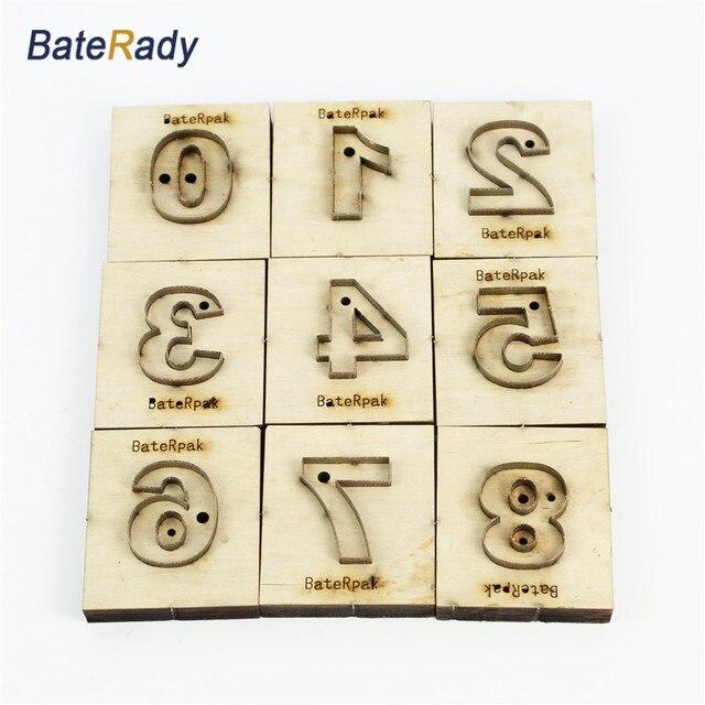 Arabische Zahlen 9 stücke (0 8) laser stempel matrize kits, BateRady ...