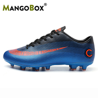 Ifrich Man Football Cleats Spike Soccer Shoes for Men Blue Gray Sneakers Men Non Slip Big Boy Football Shoe Outdoor Lawn Games