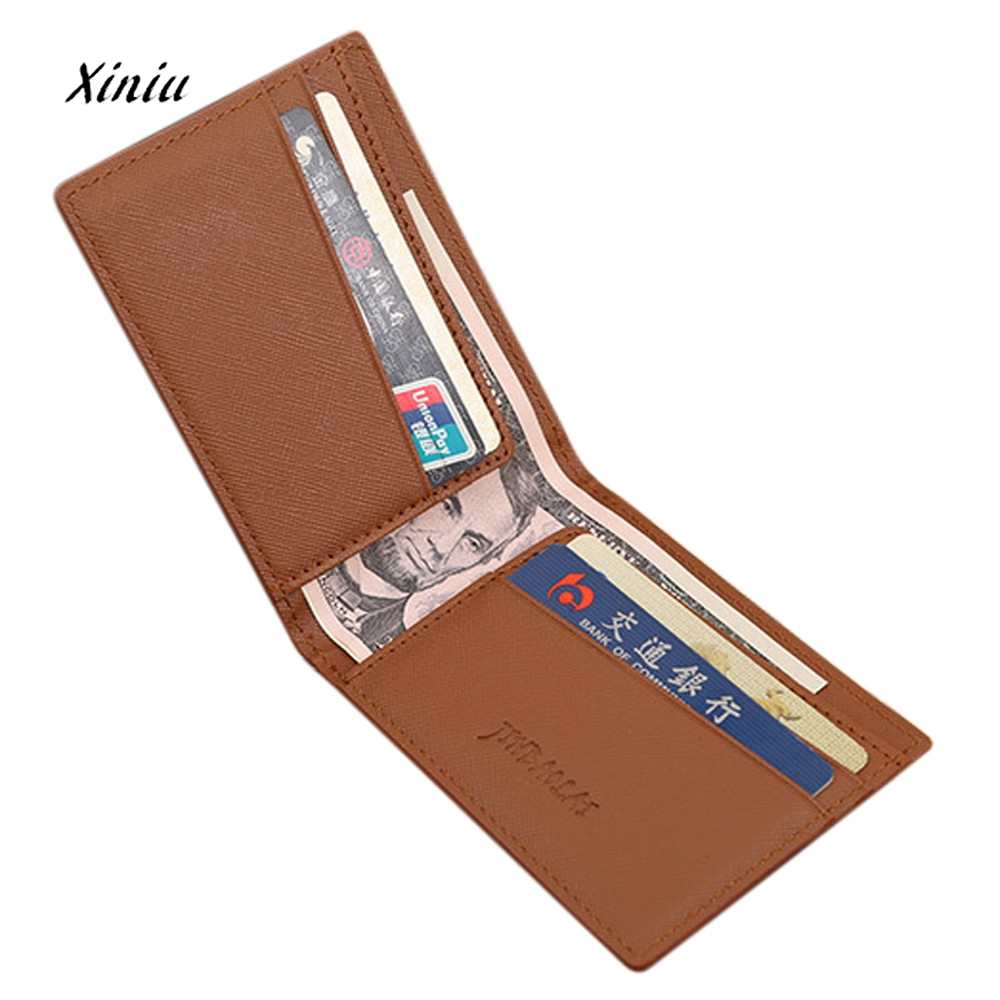 Hot Sale Ultra-Thin Men Leather Bifold Wallet Credit Card Holder Slim Wallets Purse Money Billfold Cash Storage Bag hot sale owl pattern wallet women zipper coin purse long wallets credit card holder money cash bag ladies purses