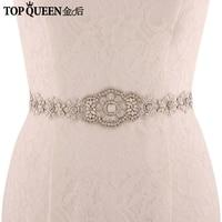 TOPQUEEN S371 Royal Medal Craft Wedding Sash Elegant Bridal Belts Rhinestone Beaded Free Shipping High Quality Bridal Sash