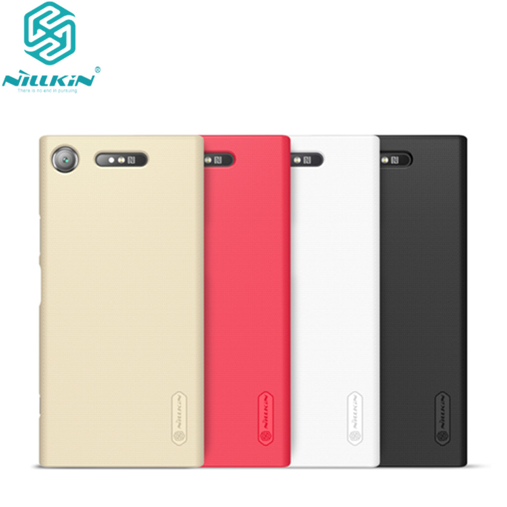 10pcs lot wholesale Nillkin Super Frosted Shield Case For Sony Xperia XZ1 PC Hard Back Cover