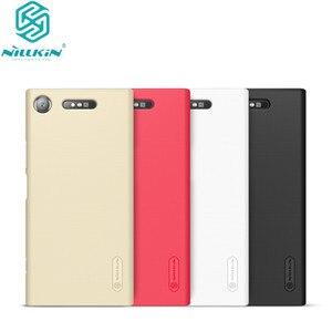 Image 1 - 10 Cái/lốc Bán Buôn Hiệu Nillkin Super Frosted Shield Cho Sony Xperia XZ1 Cứng PC Ốp Lưng Dành Cho Xperia XZ1 ốp Lưng 5.2 Inch