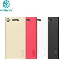 10 teile/los großhandel Nillkin Super Matt Schild Fall Für Sony Xperia XZ1 PC Harte Rückseitige Abdeckung Fall Für Xperia XZ1 fall 5,2 zoll