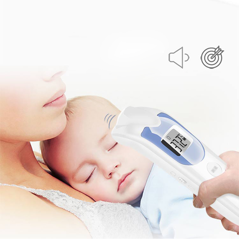 4 in 1 Digital Baby Thermometer Infrared Ear Forehead Object Clock Precision Family Applicable Temperature Monitor