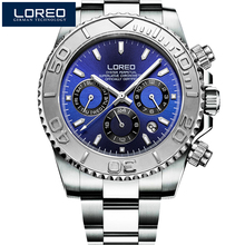 2017 Fashion Luxury Brand LOREO Sports Watches Waterproof Full Steel Genuine automatic mechanical waterproof luminous male