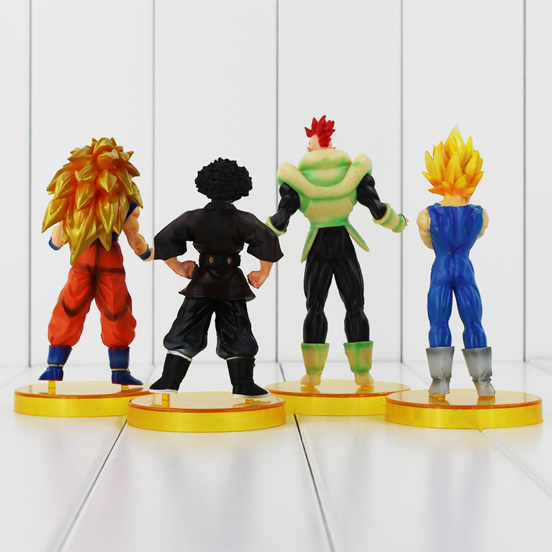 4Pcs/Lot Dragon ball z figures 4th Goku Action Figures Chidren Toy Christmas Gift for Kids