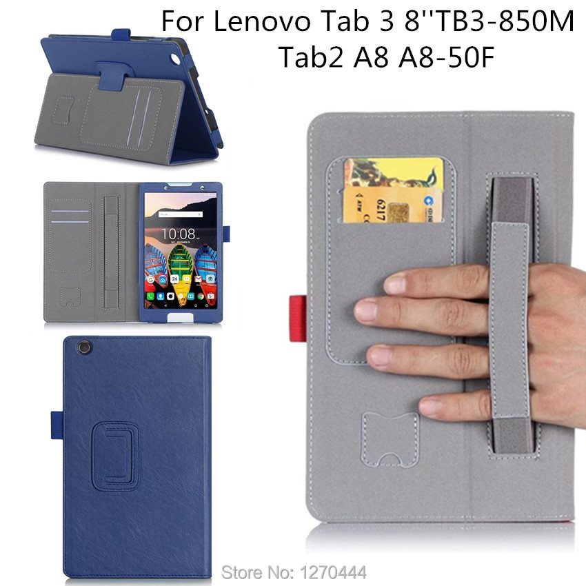 Official Original Tab 3 8 inch TB3-850M Cover For Lenovo Tab 2 A8 A8-50 A8-50F 8 inch TB3-850M funda cases Smart cover+Pen+OTG