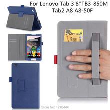 "Oficial Original Cubierta Para Lenovo Tab Tab 3 Tab3 8.0 TB3-850M 2 A8 A8-50 A8-50F 8.0 ""TB3-850M fundas cubierta Con soporte de pie"