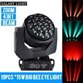 Сценический светильник 19 шт. * 15 Вт RGBW 4 в 1 большой пчелиный глаз светодиодный движущийся головной светильник AC110V-240V DMX 512 управляемый сцениче...